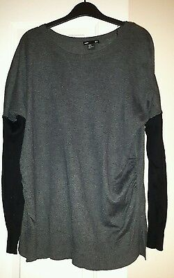 lovely grey and black maternity jumper from H &M. size medium
