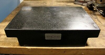 """12"""" x 18"""" x 4"""" Thick COLLINS Micro Flat Two-Ledge Black Granite Surface Plate"""