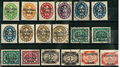 GERMANY EMPIRE Weimar Republic 1920 OLD STAMPS OFFICIAL - USED/UNUSED