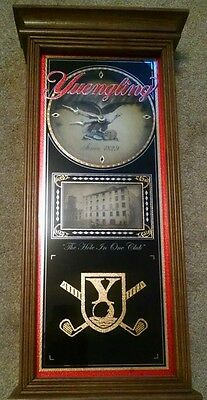 """Yuengling Beer Since 1829 Golf """"The Hole In One Club"""" Clock - FREE SHIPPING!"""