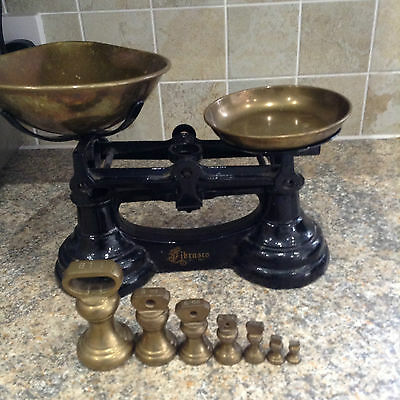 Vintage Cast Iron Kitchen Scales Librasco With Weights