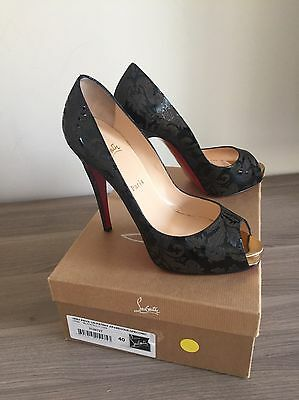 buy online e6b6c 69daa NEW CHRISTIAN LOUBOUTIN Patent Leather Very Prive 120 Sz 40  Arabesque/Specchio