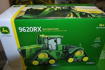 New 1/32 John Deere 9620RX tracked 2016 Farm show tractor by Ertl, new in box