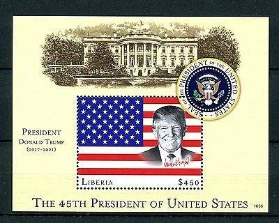 Liberia 2016 MNH Donald Trump 45th US Presidents 1v S/S Stamps
