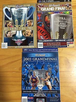 AFL Grand Final Records 2001-2003 Brisbane Lions Premiership Years
