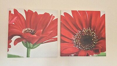 Red Flower Floral Canvas - Home Decor Picture Large