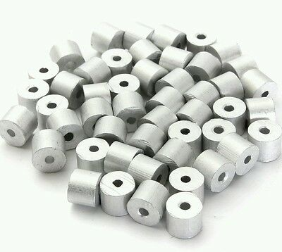 "Aluminum Swage Stops for 3/32"" Wire Rope Cable: 100, 200, 500 and 1000 pcs"