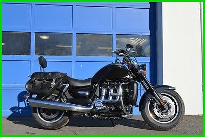 Triumph Rocket III Roadster Saddle bags Sissy bar Speakers ABS More Repairable Rebuildable Salvage Lot Drives Great Project Builder Fixer Easy Fix
