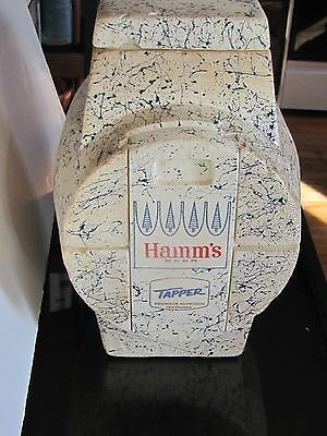 Collectible Hamm's Beer Tapper 2 1/2 Gallon Barrel Shaped  Styrofoam Cooler