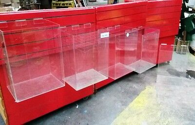 Acrylic Perspex Retail Display unit x 6 Shop Holder for Slat wall board