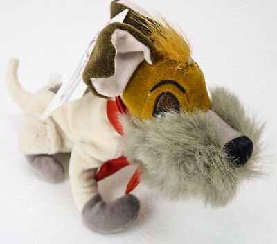 Disney Store Bean Bag DODGER Dog From Oliver & Company Beanie Plush NEW NWT