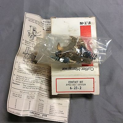 Cutler Hammer EATON contact kit 6-23-2 - Size 1 citation 3 Pole - New in Box -