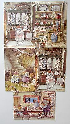 Rare Brambly Hedge Jill Barklem Greeting Cards 1994 Set of 5