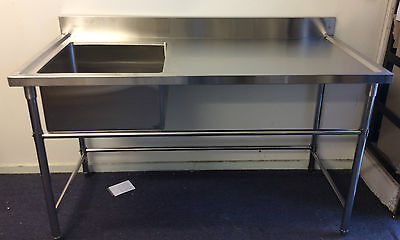 Brand New Commercial Stainless Steel Single Sink 1200x700x900x100 mm