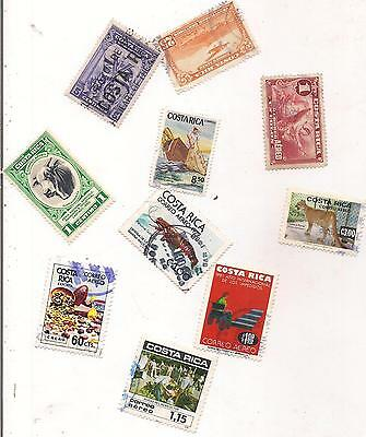 10 COSTA RICA stamps.