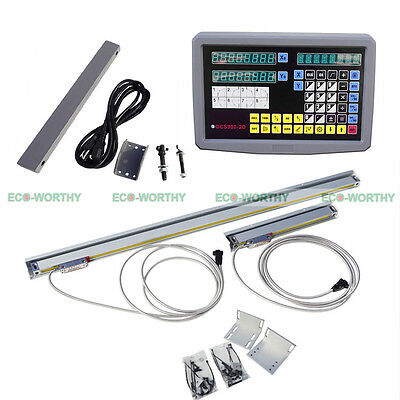 2 Axis Digital Readout with 2 TTL Linear Scale DRO Kits for CNC Milling EMD
