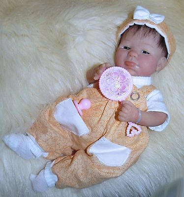 OOAK Original Artist Sculpt Polymer Clay Art Doll 8.5 inch - Baby Girl Ashlyn