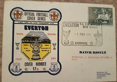 Everton v Fortuna Sittard First Day Cover European Cup Winners Cup 1987