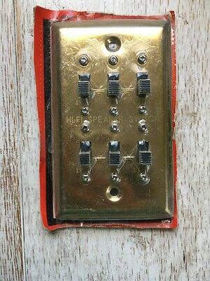 Vintage Hi Fi Stereo Multi Speaker Selector Switch!  Japan!  Nrfp!  Gold Tone!