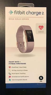 BRAND NEW Fitbit Charge 2 Activity Tracker Small Lavender ROSE GOLD - FB407RGLVS