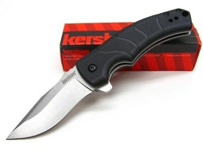 KERSHAW Stonewashed VALMARA Assisted Plain Folding LINERLOCK Pocket Knife! 3480