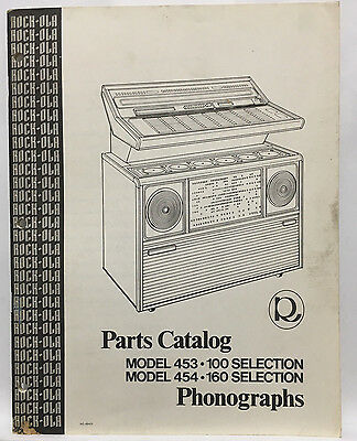 Jukebox Manual Rock-Ola Model 453-100 & 454-160 Parts Catalog