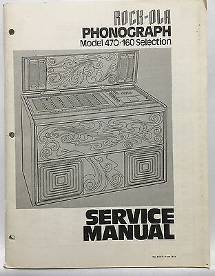 Jukebox Manual Rock-Ola Model 470 Service Manual