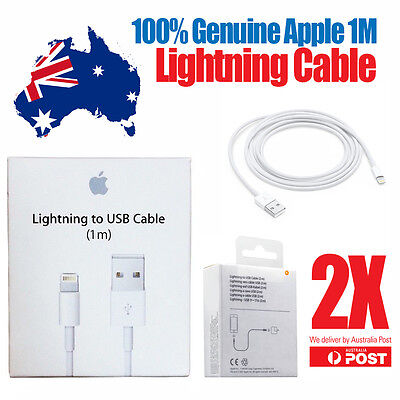 2 X Original Genuine Apple iPhone 5 5S C 6 iPad Mini Air iPod Charger Data Cable