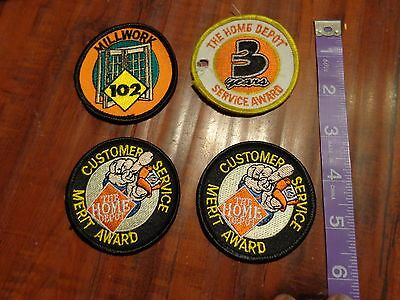 Lot 4 Home Depot Collectible Customer Service Merit Award Patch 3 Years Millwork