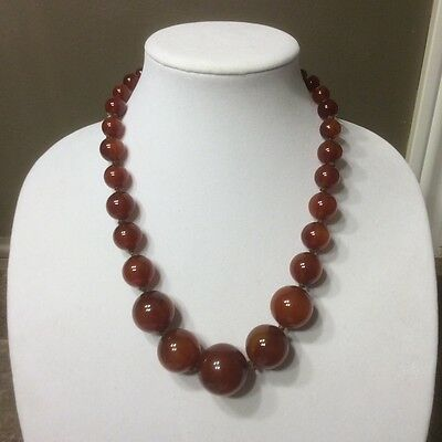 Vintage Bakelite graduated round beaded necklace. Tested positive