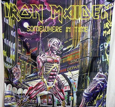 Iron Maiden Somewhere in Time HUGE 4X4 banner poster tapestry cd album