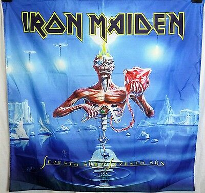 Iron Maiden Seventh Son HUGE 4X4 banner poster tapestry cd album