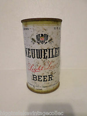 Vintage Neuweiler Light Lager Delicious Flavor Flat Top Beer Can