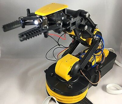 Robotic Mechanical Arm Robot Claw Clamp School Science Project Kit Kids Toy FUN