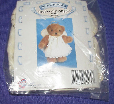 """Treasured Toggery Heavenly angel Outfit Fits Stuffed 8"""" Plush Bear, Doll costume"""