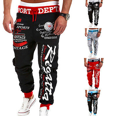 Mens Letter Printed Sport Sweat Pants Jogging Trousers Tracksuit Bottoms Selling