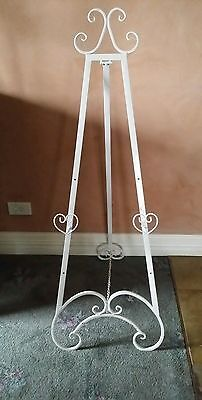 Easel 122 Cm High Antique/vintage White / Wedding / Photo/painting/display New