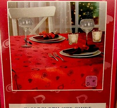Valentines Day Heart Tablecloth Red Fits 60x84 Fabric Wreath PICK SPRAY Cupid