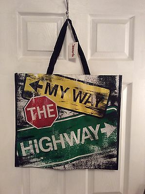 NEW Shopping Gift Bag Reusable Travel Tote My Way The Highway TJ Maxx