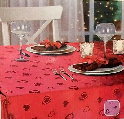 Valentines Day Tablecloth Pink Hearts Fits 60x84 Fabric Wreath PICK Decor Cupid