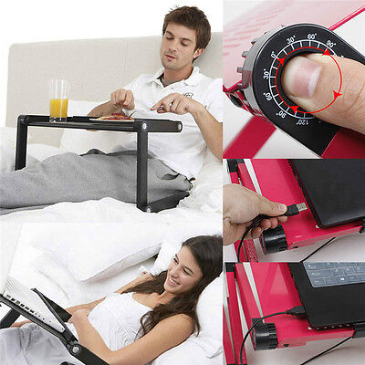 Portable Foldable Adjustable Laptop Notebook PC Table Vented Stand Bed Sofa Tray