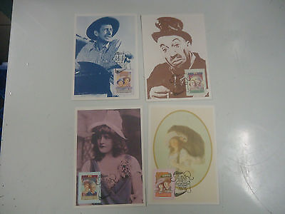 Australia 1989 Stage & Screen Phq Maxi Card  Post Card Covers Set Of 4 Cards