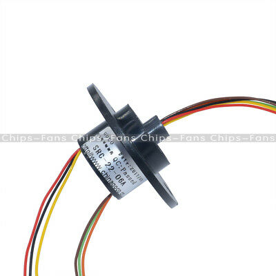 22mm 250Rpm 6 Wires 6 Conductors Capsule Compact Slip Ring 220V AC  CCTV Monitor