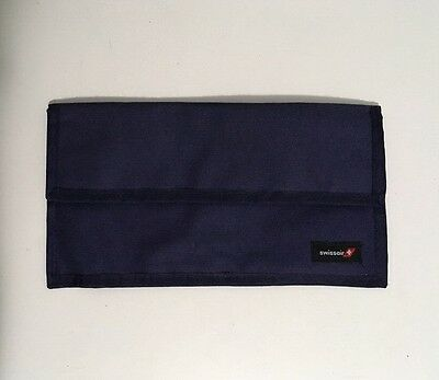 Swissair Airlines Heavy Blue Canvas Large Wallet!