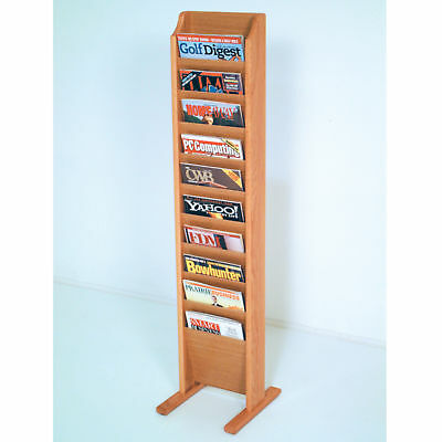 Floor Stand Cascade Magazine Rack Literature Holder Phamphet Leaflet Display