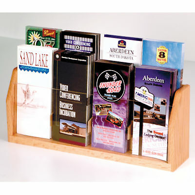 Wooden Countertop Brochure Display Desktop Phamphet Leaflet Rack Menu Holder
