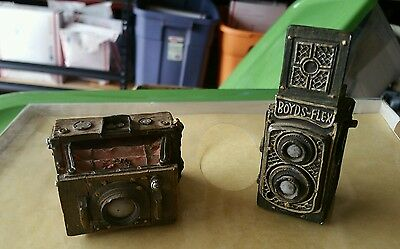 2 Mini decorative faux cameras by boyds bears
