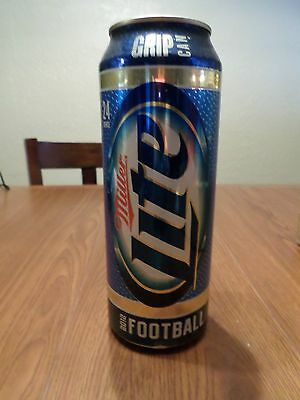 Miller Lite 2012 Football Grip Can 24 oz Stay Tab Beer Can