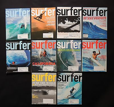 Surfer Magazine 2004 Used Lot Of 10 Issues Vol.45  Surf Surfing Hawaii