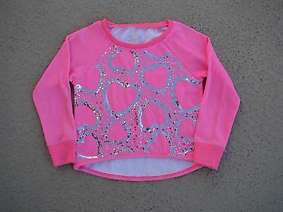 """Justice Nwot Girls Sz 7 Sweatshirt - """"love One Another"""" - Bright Pink - Pretty!!"""
